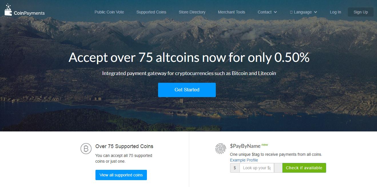 coinpayment altcoins