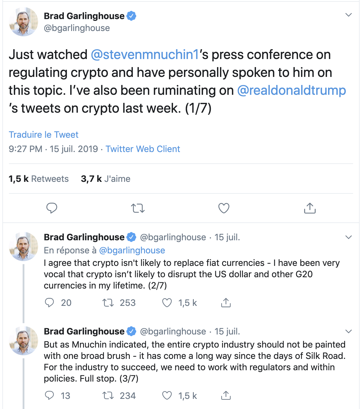 tweet garlinghouse to trump