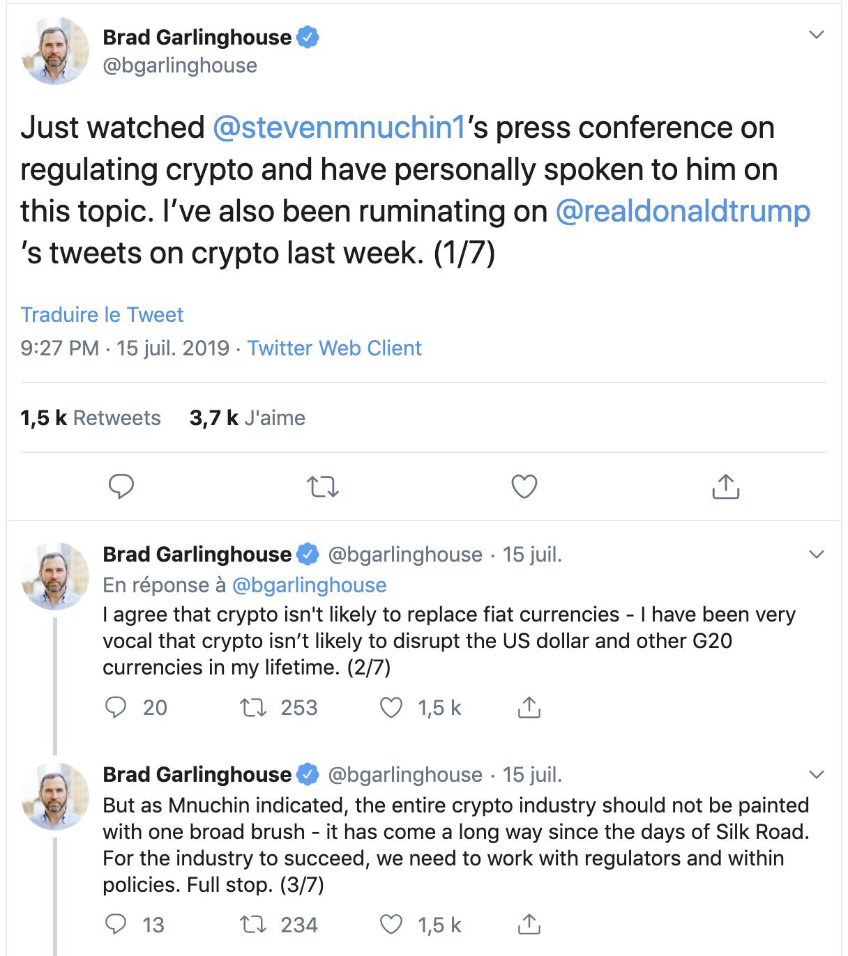 tweet garlinghouse to trump