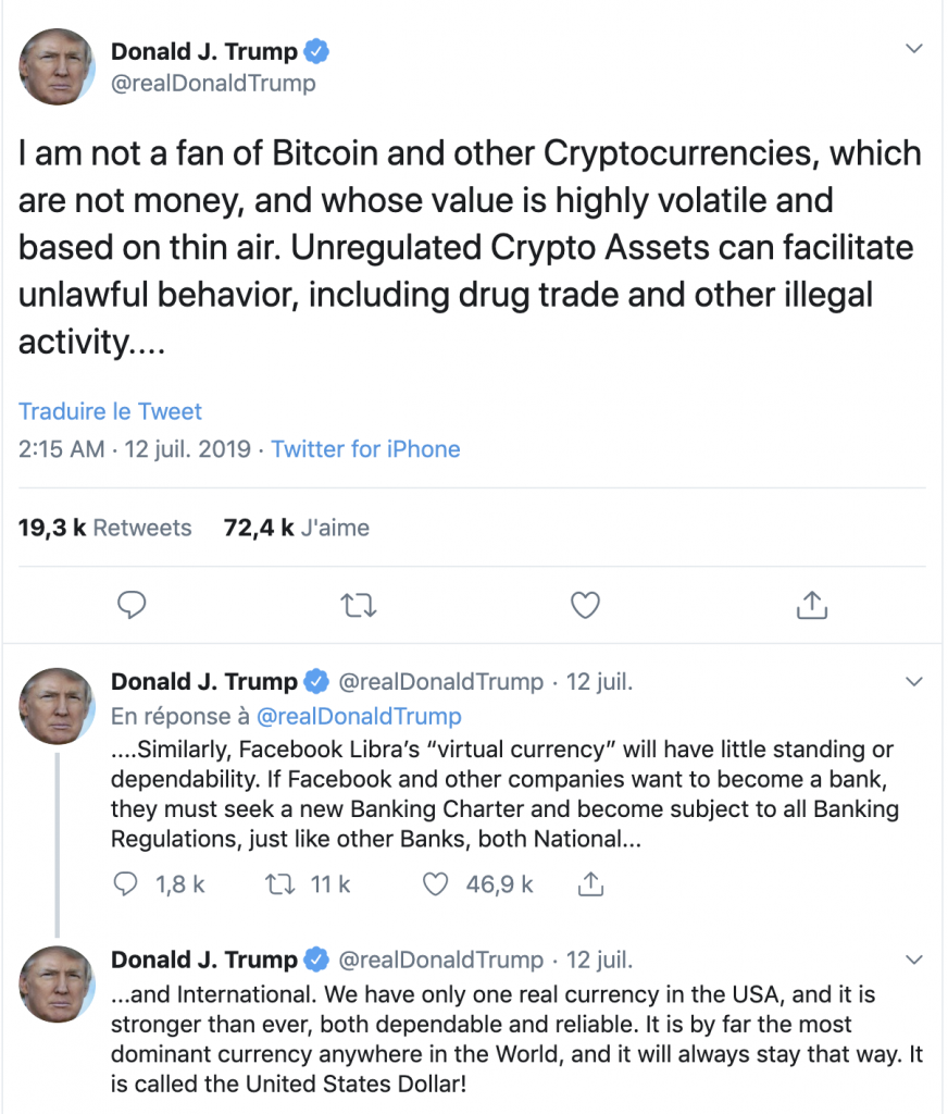 tweet donald trump crypto