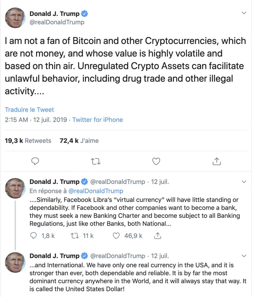 tweet donald trump crypto